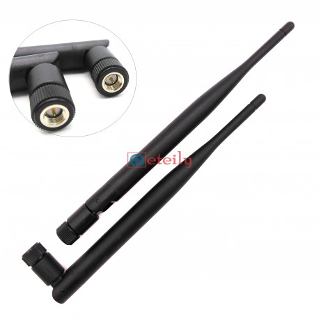 433 MHz 5dBi Rubber Duck Antenna with SMA Male Movable Connector ETEILY