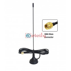 433 MHz 8dBi Spring Magnetic Antenna with RG174 Cable | SMA Male St. Connector