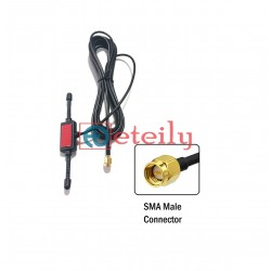 433MHz 2.5dBi Adhesive Horn Antenna with RG174 Cable | SMA Male Connector