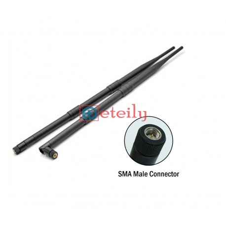 GSM 12dBi Rubber Duck Antenna with SMA Male Movable Connector ETEILY