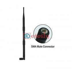 LoRa 868 MHz 12dBi Rubber Duck Antenna with SMA Male Movable Connector ETEILY