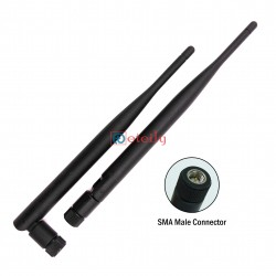 GSM 5dBi Rubber Duck Antenna with SMA Male Movable Connector