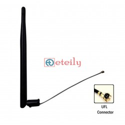 2G/GSM 6dBi Rubber Duck Antenna with 1.13mm Cable | UFL Connector