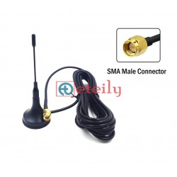 GSM 3dBi Magnetic Mount Antenna with RG174 Cable | SMA Male Connector