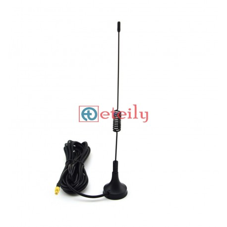 GSM 3dBi Spring Magnetic Antenna with RG174 Cable | MCX Male Connector