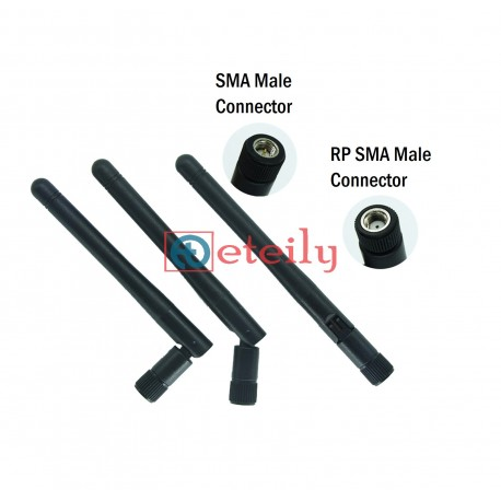 3G 3dBi Rubber Duck Antenna with SMA Male Movable ETEILY