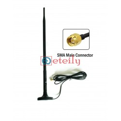 4G 9dBi Rubber Magnetic Antenna with RG 174 Cable | SMA Male Connector