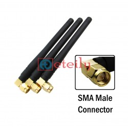 GSM 5dBi Rubber Duck Antenna SMA Male R/A Connector ETEILY