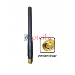 868 MHz 5dBi Rubber Duck Antenna with SMA Male Straight Connector ETEILY
