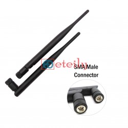 4G 5dBi Rubber Duck Antenna with SMA Male Movable Connector ETEILY