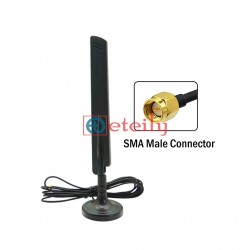 4G 10dBi Paddle Antenna with RG174 Cable | SMA Male Connector - ETEILY TECHNOLOGIES