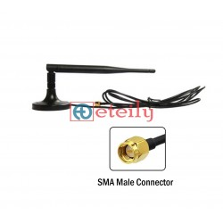 4G 5dBi Rubber Magnetic with RG174 Cable | SMA Male Movable Connector - Eteily Technologies