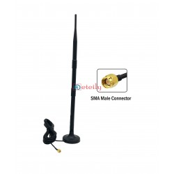 4G 9dBi Rubber Magnetic Antenna with RG 174 Cable | SMA Male Connector ETEILY