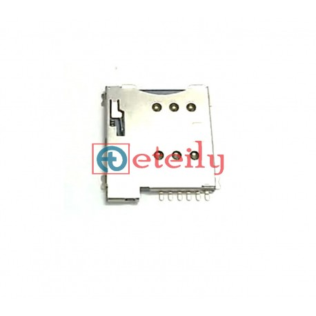 Micro SIM Card Connector 6P Push-Push Type (with CD Pins) - ETEILY TECHNOLOGIES