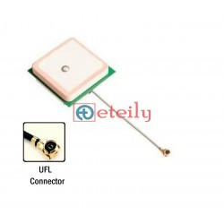 GPS / GLONASS Active Patch Antenna with 1.13mm Cable | U.FL Connector 25x25 ETEILY