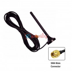 GSM+3G 3DBI RUBBER MAGNETIC ANTENNA WITH RG174 3MTR CABLE SMA MALE ETEILY