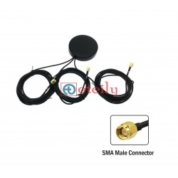 GSM / GPS / Wi-Fi COMBO Magnetic Puck Antenna with RG 174 Cable | SMA Male Connector
