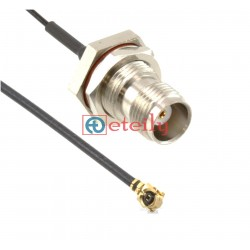 """UFL R/A to TNC(F) with 1.32mm OD Coaxial Cable 9.843"""""""