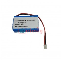 3.7V 2200mAh Lithium Ion Prismatic Battery Pack with 2pin connector ETEILY