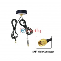 GSM / Wi-Fi Combo Adhesive Screwable Puck Antenna with RG 174 Cable   SMA Male Connector ETEILY