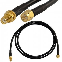 SMA (M) to SMA (F) B/H with RG58 Cable - ETEILY TECHNOLOGIES