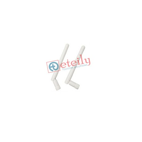 2.4GHZ 3DBI WIFI RUBBER DUCK ANTENNA SMA MALE RP MOVABLE (WHITE)