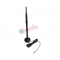 GSM 9dBi Rubber Magnetic Antenna with RG 174 Cable | SMA Male Connector