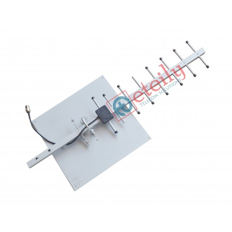 GSM 20dBi Yagi Antenna with RG 58 Cable | N Female Connector ETEILY