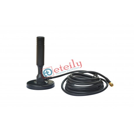 2.4 GHz,5.8 GHz Magnetic Antenna RG 58 3MTR Cable+ SMA (M) Connector ETEILY