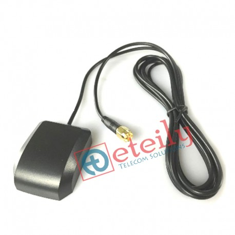 GPS / GLONASS Magnetic Antenna with RG 174   SMA Male Connector ETEILY