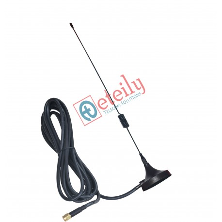 GSM 6dBi Spring Magnetic Antenna with RG 58 Cable | SMA Male Connector ETEILY
