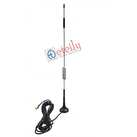 GSM 9dBi Spring Magnetic Antenna with RG 174 Cable | SMA Male Connector ETEILY