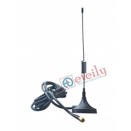 GSM 3dBi  Spring Magnetic Antenna with RG 58 Cable | SMA Male Connector ETEILY