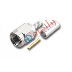 SMA Male Straight (Nickel Plated) Connector for RG316 Cable ETEILY