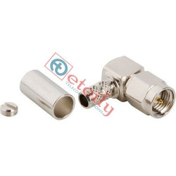 SMA Male Right Angle Nickel Plated Connector for RG316 Cable