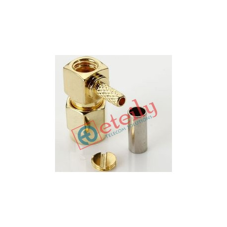 SMA MALE R/A RP FOR RG316 (M-BODY, F-PIN)