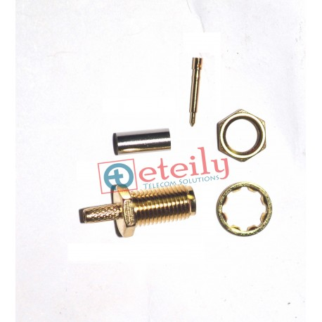SMA (F) St. RP B/H For Rg 316 (Separate Pin)