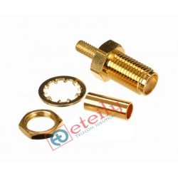 SMA Female Bulkhead Gold Plated Connector for RG 316 Cable