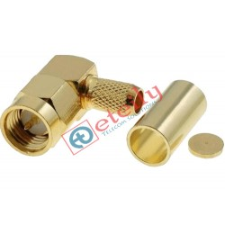 SMA Male R/A for RG58 Gold Plated