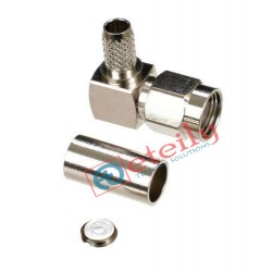 SMA Male Right Angle Connector (Nickel Plated) for RG58 Cable