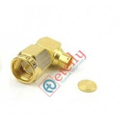 SMA Male Right Angle Connector for RG141 Cable (Gold Plated)