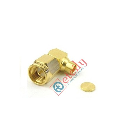SMA MALE R/A FOR 141 CABLE (GOLD PLATED)