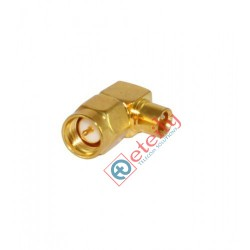 SMA Male Right Angle Connector for RG402 Cable (Gold Plated)