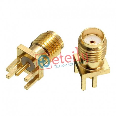 SMA Female Straight Edge PCB Mount Connector ETEILY