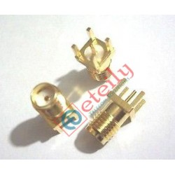 SMA (F) Straight PCB Mount Gold Plated Connector
