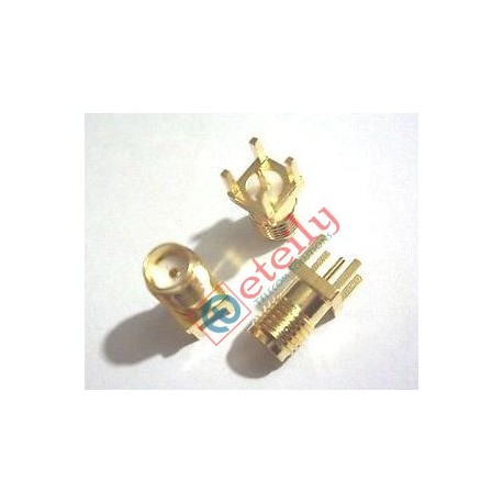 SMA FEMALE STRAIGHT PCB MOUNT (GOLD PLATED)
