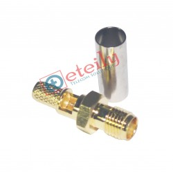 SMA (F) St. Connector for RG 58 Cable