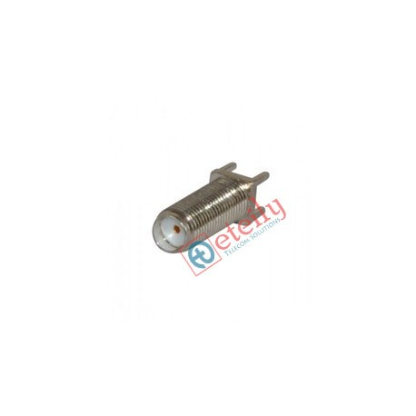 SMA (F) St. B/H PCB Mount 15 mm Nickel Plated Connector ETEILY