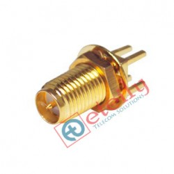 RP SMA Female Straight B/H PCB Mount Connector