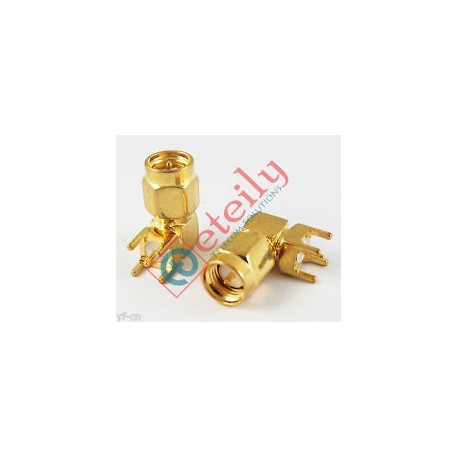 SMA Male R/A PCB Mount Connector ETEILY